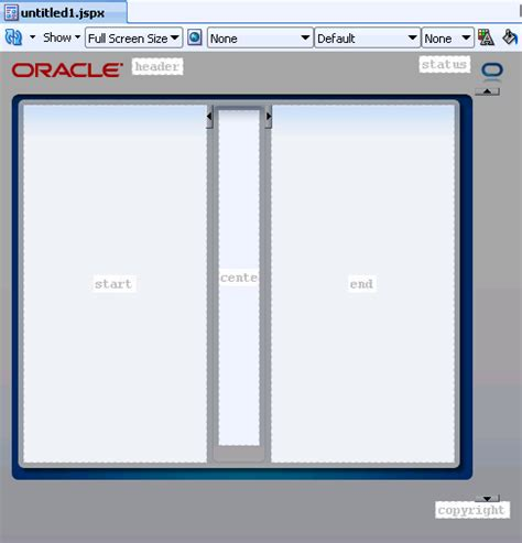 oracle layout template getting started with adf faces and jdeveloper