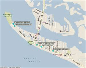 fort myers hotels map from southwest florida traveler