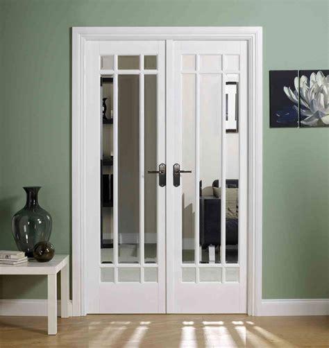 White Glass Doors Interior white manhattan glazed door