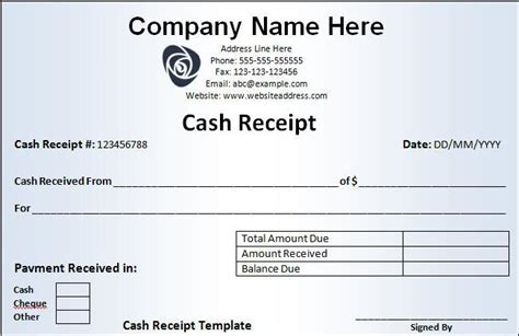 Payment Receipt Template Word by Receipt Template Free Word Templates