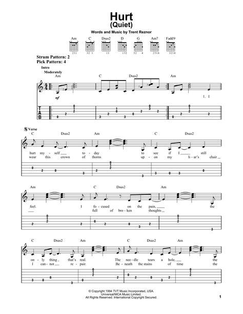 guitar tutorial johnny cash hurt quiet by johnny cash easy guitar tab guitar