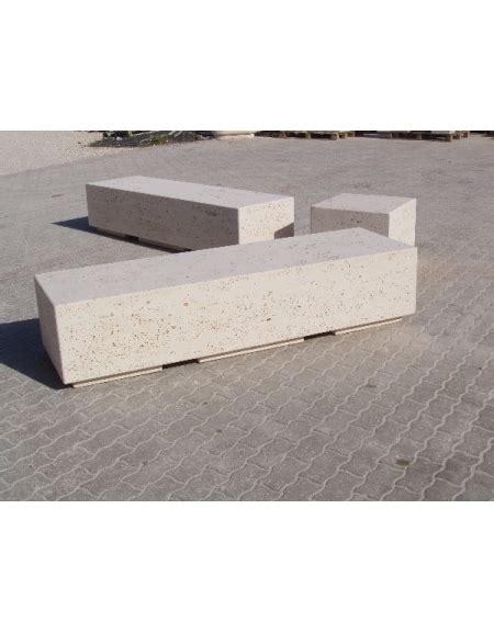 Panchina In Cemento by Panchina Rettangolare Monoblocco In Calcestruzzo Bianco