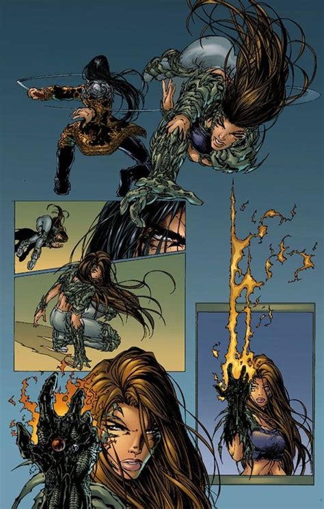 witchblade  page  dc comics artwork comic style