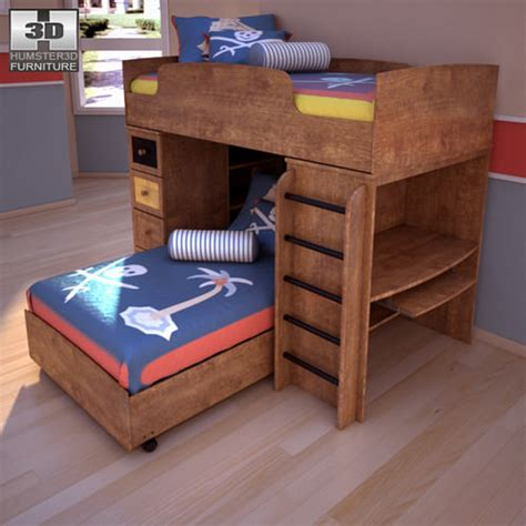 ashley loft bed ashley alexander youth loft bed 3d model game ready max