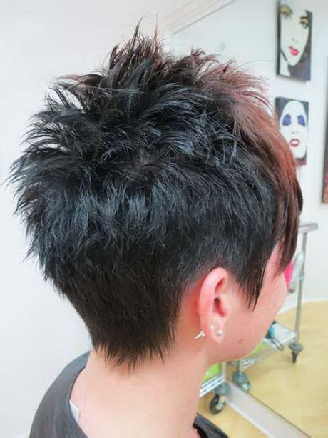 front and back pictures of spiky haircuts for women back view of pixie haircuts