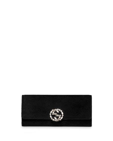 Florence Fred Black Buckle Clutch Bag by Gucci Broadway Suede Gg Buckle Clutch Bag Black