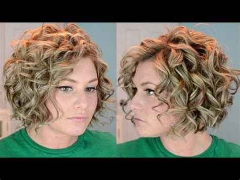 short hair perm loose curl how to short curly hair tutorial youtube