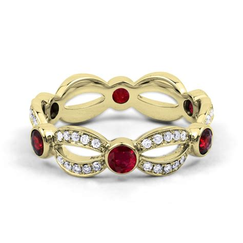 Ruby 6 3ct 18ct yellow gold ruby designer eternity