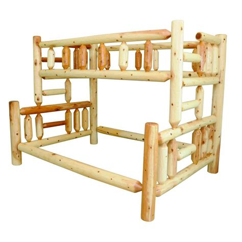 Bunk Beds Furniture Knotty Pine Collection Bunk Bed Amish Crafted Furniture