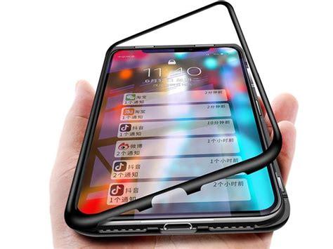 szklane etui magnetic iphone xr czarne 4kom pl