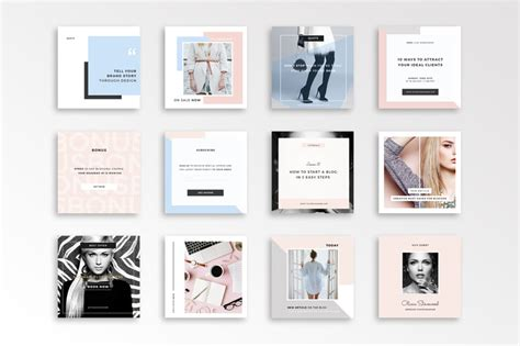 instagram templates for photoshop social media templates for instagram minimalist