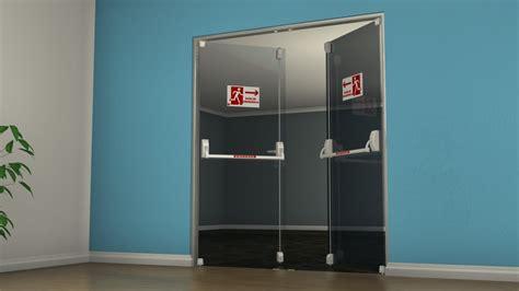 porta antipanico barra antip 226 nico dks em porta de vidro