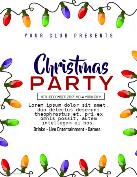Children039s Christmas Party Flyer Templates
