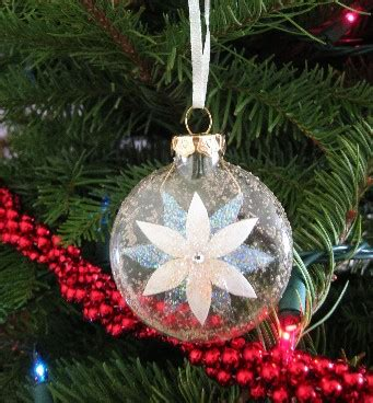 christmas ornaments by eb glennis white poinsettia ornament