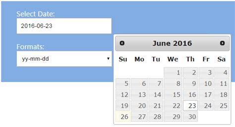 format date jquery formatting date with jquery date picker