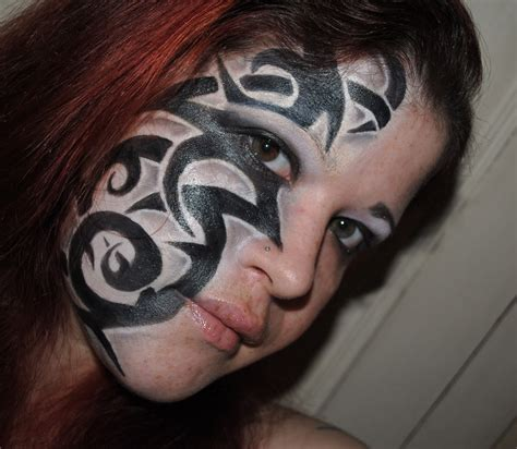 woman s face tattoo cool tribal tattoos for tattoos