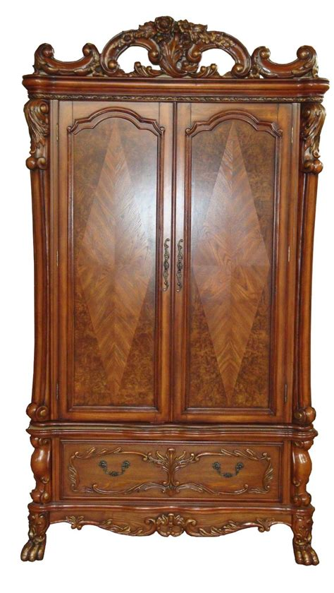 antique cherry armoire dresden antique style tv armoire in traditional cherry oak