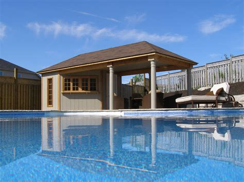 simple pool house pool cabana plans that are perfect for relaxing and