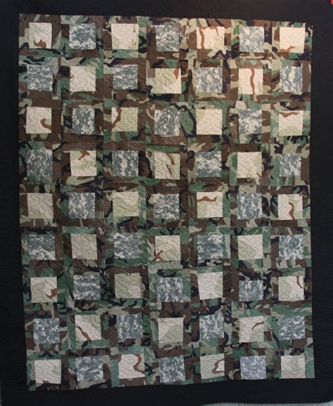Army Quilt Pattern | mamaka mills recycled and custom memory quilts army