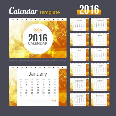 creative calendar 2016 template vector 09 vector