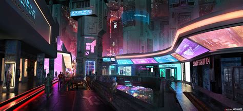 design art arcade ny aenigma cyberpunk concept art by w e z on deviantart