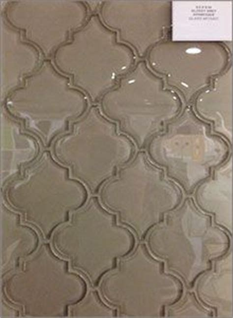 glossy grey arabesque glass mosaic backsplash tiles one