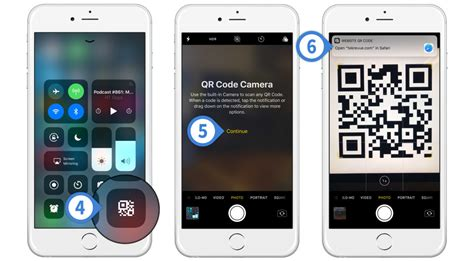 ios 12 add the iphone qr code scanner to center