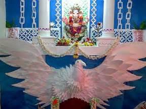 Home Decoration For Ganesh Festival by Ganesh Chaturthi Decoration For Home Makhar Flower