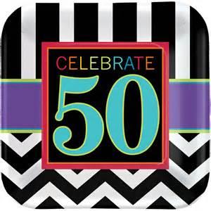 Kitchen Accessories Cupcake Design 50th birthday celebration square paper dessert plate 7in