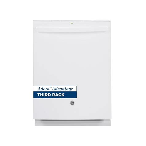 ge adora ge adora 24 in top dishwasher in white with