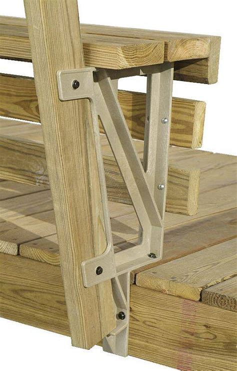 bench bracket 2x4 basics dekmate bench bracket 90168