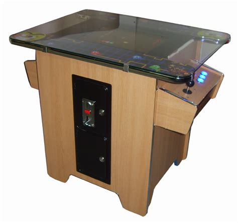 oak table top arcade coin operated brand new