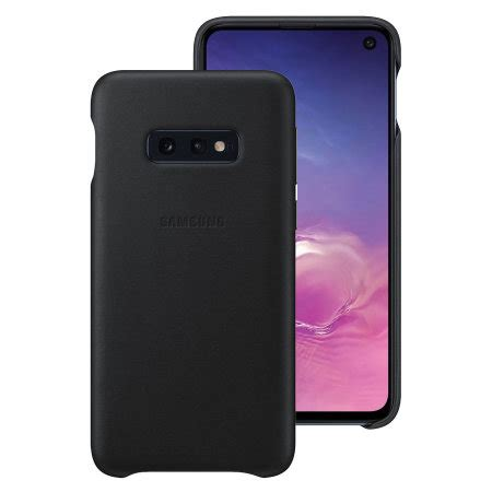 Samsung Galaxy S10 Zap by Official Samsung Galaxy S10e Genuine Leather Cover Black