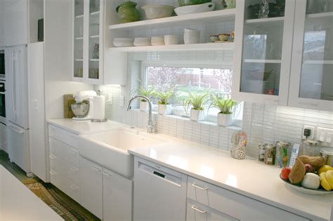 white subway backsplash white kitchen with subway tile backsplash 432