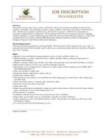 Housekeeper Sample Resume housekeeper resume sample best template collection
