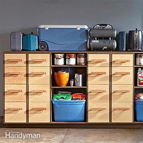 Garage Organization Handyman Diy Garage Storage Sturdy Drawers Family Handyman