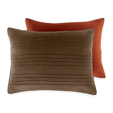bed pillow shams croscill 174 ventura standard pillow sham in chocolate bed bath beyond