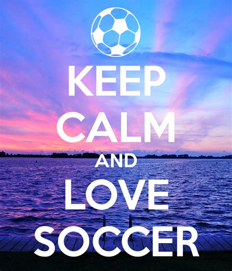 Wall Stickers Love keep calm and love soccer keep calm and carry on image
