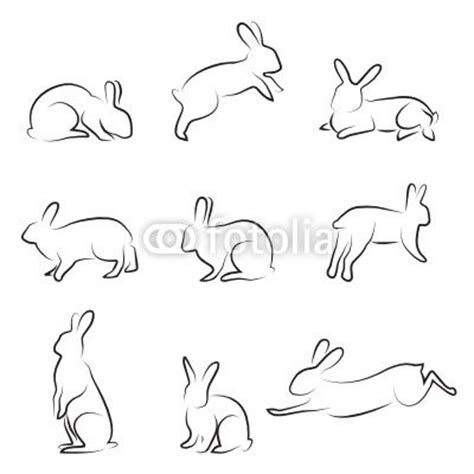rabbit simple rabbit outline drawings everything else