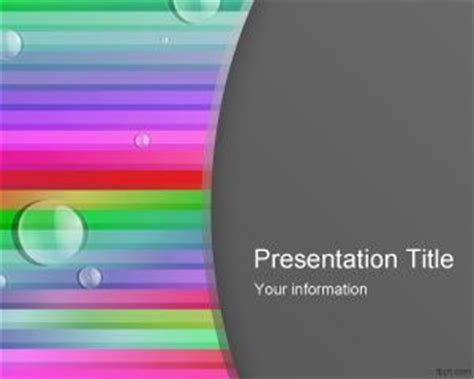 Color Lines Powerpoint Template Ppt Template Microsoft Powerpoint Templates With