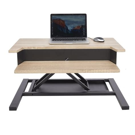 sit stand desk converter parrs workplace equipment