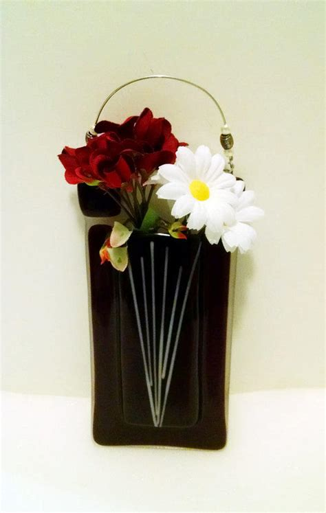 fused glass pocket vase wall vase from stained