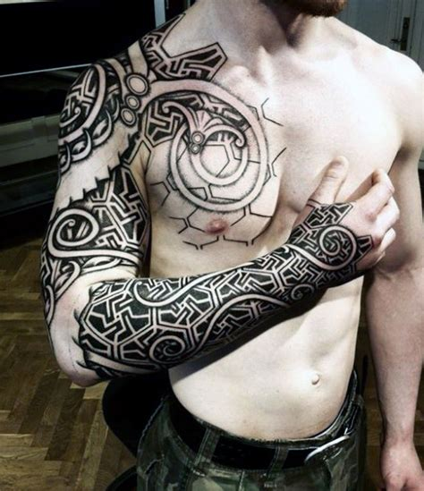 tribal dragon sleeve tattoo 70 viking tattoos for germanic norse seafarer designs