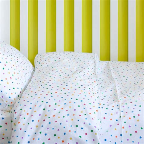 cot bedding multicolour star toddler cot bed duvet set by lulu and nat