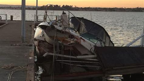 crash boat cafe boat crashes into jojo s jetty