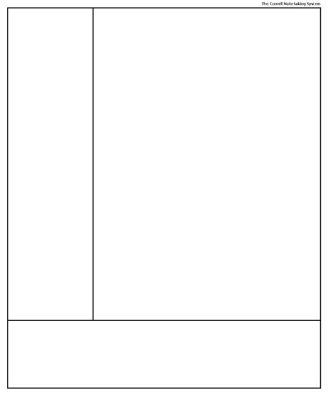 Cornell Note Taking Template the gallery for gt cornell notes template