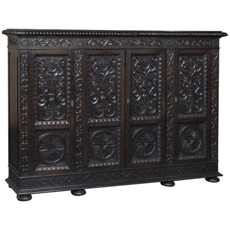 Bookcase Armoire by 19th Century Italian Renaissance Armoire Bookcase At 1stdibs