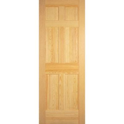 builder s choice 30 in x 80 in 6 panel solid unfinished clear pine single prehung