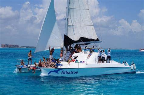 catamaran isla mujeres albatros praia onde paramos para almo 231 ar fotograf 237 a de albatros