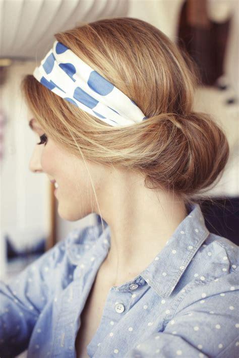 headband tuck hairstyle quick hairstyles for long hair glam radar